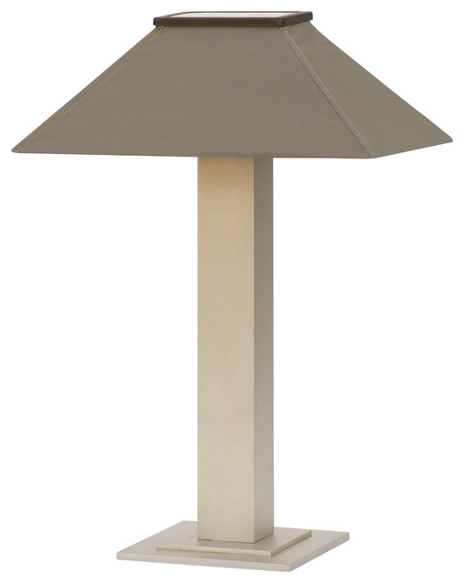 Outdoor Table Lamp: Solar Table Lamp With Shade, Granite Gray contemporary-table-lamps,Lighting