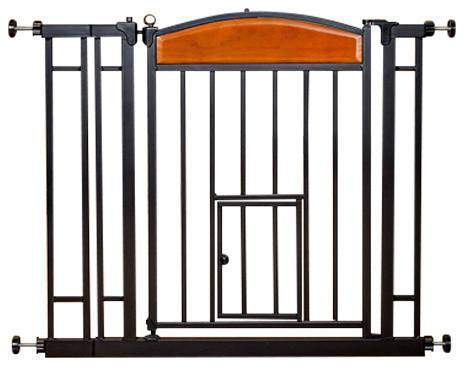 Carlson Design Studio Walk-Thru Pet Gate With Small Pet Door