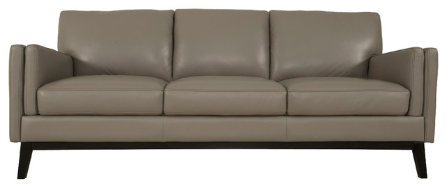 Osman Dark Gray Full Leather Sofa.