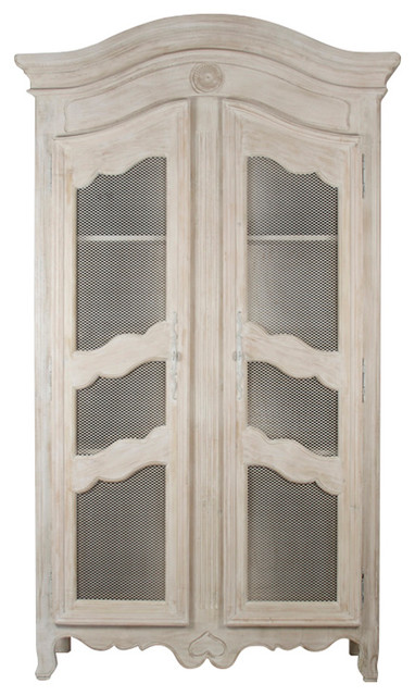 standing kitchen cabinets stephan country european white wash standing storage display cabinet traditional 2488