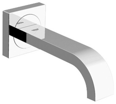 Grohe Allure Non Diverter Tub Spout Wall Mount Modern Bathtub - Wall mount bathtub faucet with diverter