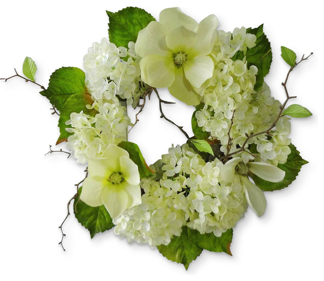 "20"" Hydrangea/magnolia Wreath."
