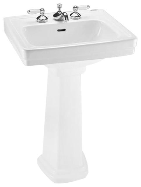 Toto Lpt532.4N Cotton White Promenade Pedestal Lavatory Sink ...