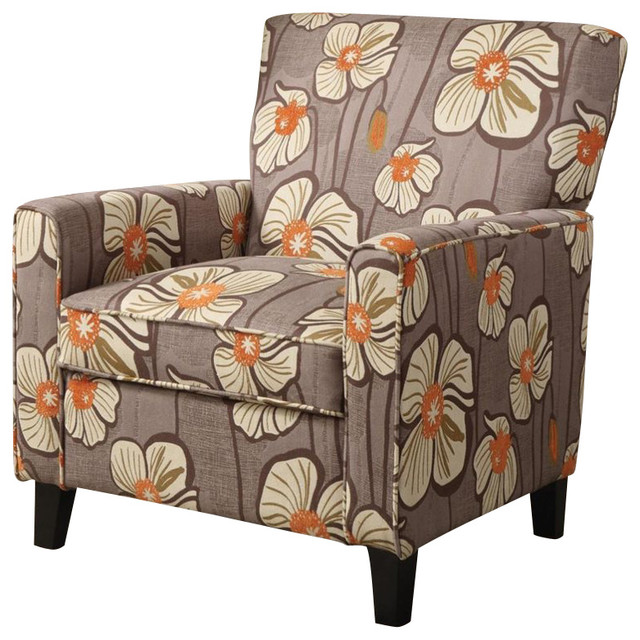 Coaster Accent Chair With Island Flower Pattern