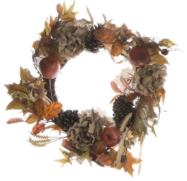 Rose And Pear Wreath.