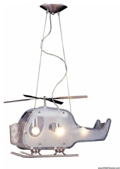 Elk Lighting 5056/3 3 Light Helicopter Shaped Pendant Novelty Collection