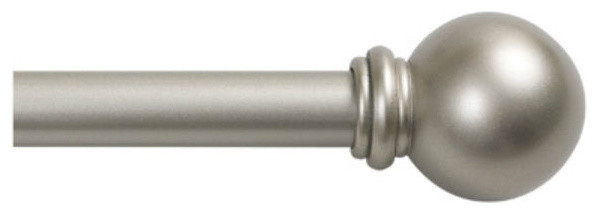 "Kenney Kn71608 Chelsea Cafe Curtain Rod, Champagne Silver, 28"", 48""."