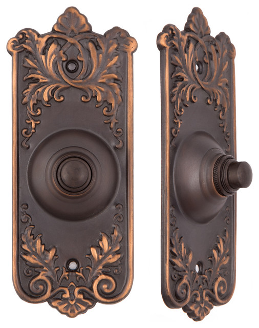 Lorraine Doorbell Button - Victorian - Doorbells And Chimes - by Charleston Hardware