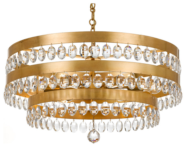 Crystorama crystorama perla 6 light antique gold chandelier crystorama perla 6 light antique gold chandelier chandeliers aloadofball Images