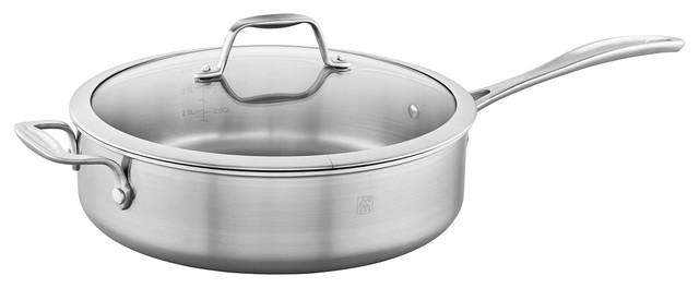 Zwilling Spirit 3-Ply 5-Qt Stainless Steel Saute Pan.