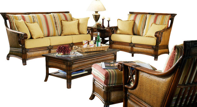 pacifica 5 piece rattan and wicker living room collections