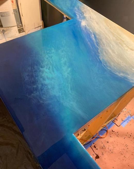 Ocean Art Resin Countertop