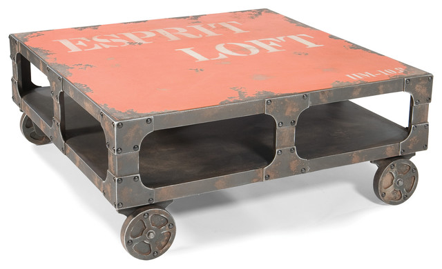 Loft Coffee Table Orange Industrial Coffee Tables