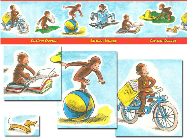 Curious George Adventures Wallpaper Border Roll