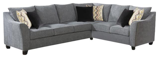 Calvina 2-Piece Set-Left Side Facing Sofa And Rsf Corner Sofa With 6 Pillows.
