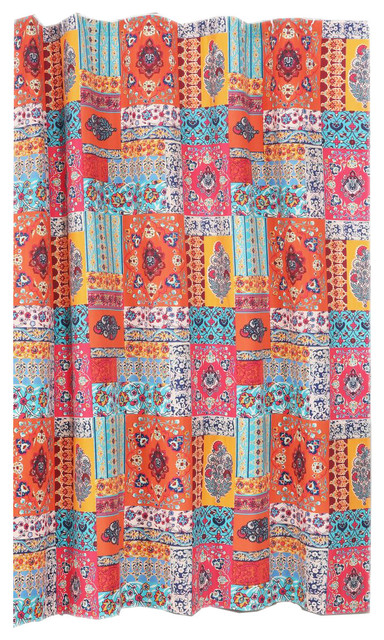Barefoot Bungalow Indie Shower Curtain Spice
