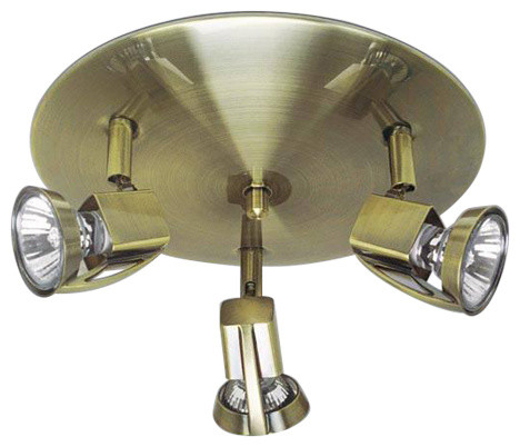 Arco 3-Light Ceiling Light, Aged Gold