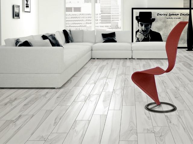 Happy Floors Tigerwood Snow Porcelain Tile Flooring San Francisco