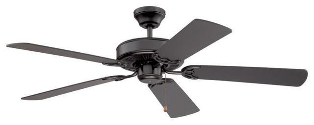 "Builder&x27;s Choice 52"" Ceiling Fan, Black."