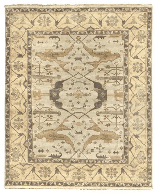 Berat antique style woven oushak rug khaki 9 39 x12 for Vintage style area rugs