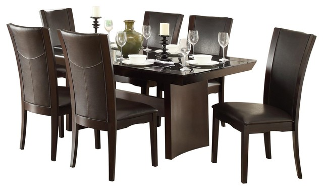 7 Piece Denstein Modern Dining Set 72