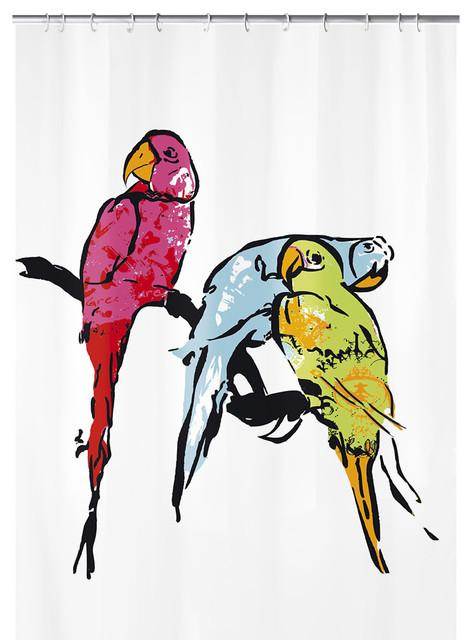 Kids Fabric Shower Curtain Parrot