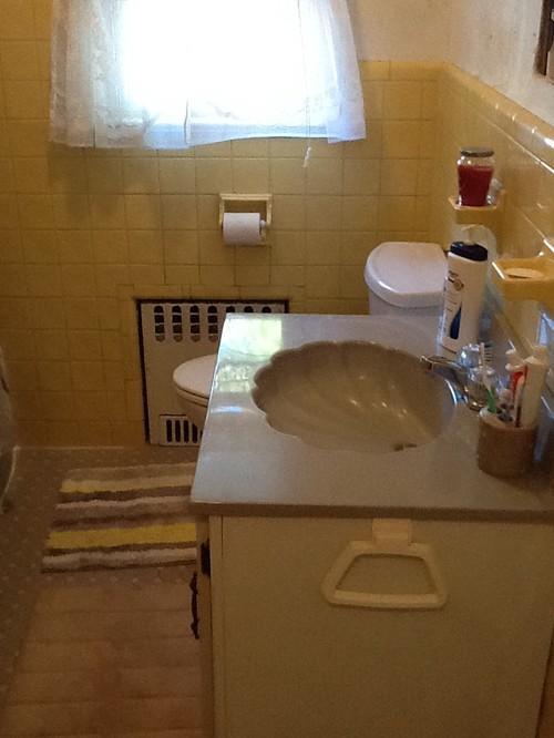 1960 S Yellow Tile Bathroom