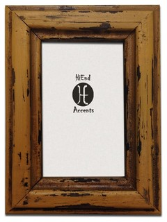 Distressed Brown Lightaccents 5K08-46-DBN Home Accents Picture Frame Photo Frame 4 x 6