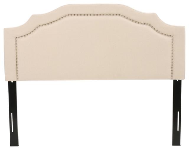 Kiera Cream Fabric Queen/full Headboard.