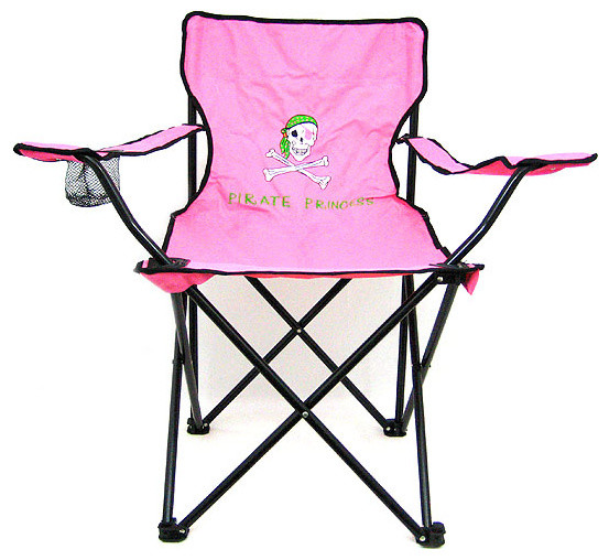 Pink Pirate Princess Folding Camp Chair Camping
