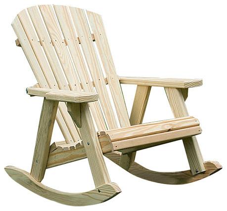 Pressure Treated Pine Adirondack Rocking Chair Craftsman
