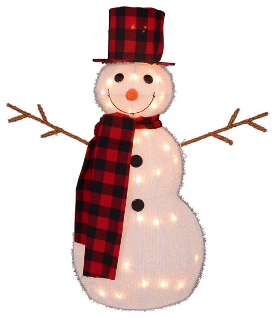 35 Lighted 3 D Snowman With Top Hat And Twig Arms Outdoor Christmas Decoration Outdoor Holiday Decorations By Northlight Seasonal