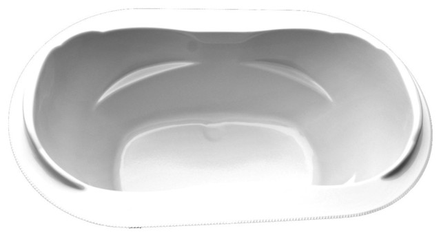 American Acrylic And Injection Drop-In Combination Tub, Biscuit.
