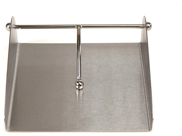 Stainless Steel Flat Napkin Holder, Silver.