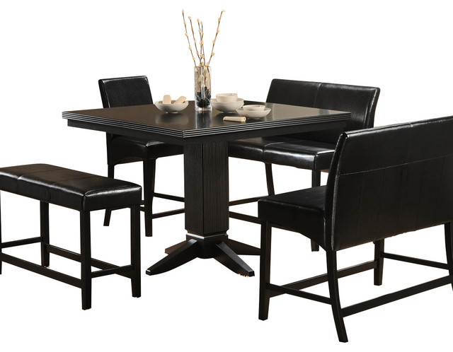 homelegance dining room sets | Homelegance Papario 5-Piece Counter Dining Room Set in ...