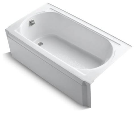 "Kohler Memoirs 60"" X 32"" Alcove Bath with Left-Hand Drain, White"