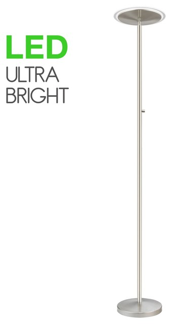 "Kira Home Horizon 70""  36w Led Torchiere Floor Lamp, Glass Diffuser, Dimmable."