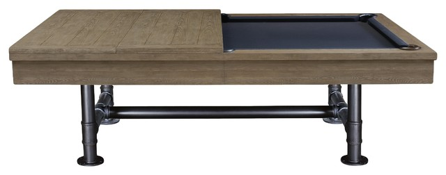 Bedford Industrial Style Pool Table With Dining Top Included - Industrial style pool table
