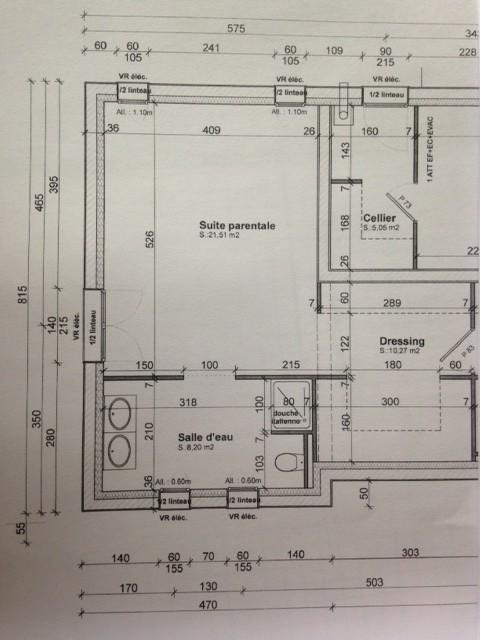 Optimisation de salle de bains en construction for Plan de salle de bain avec douche