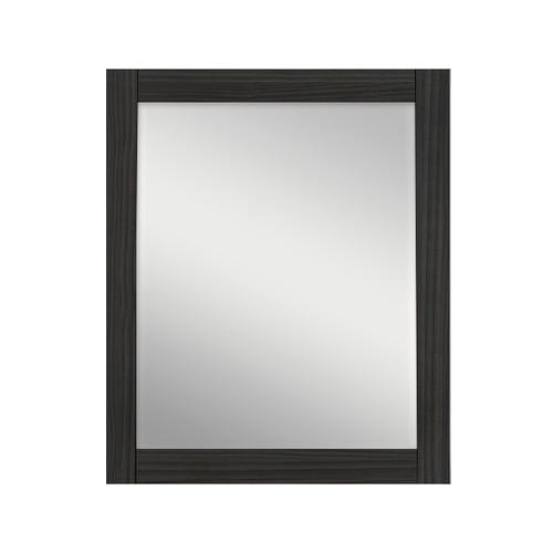 Hacienda black wall mounted rgb led mirror contemporary for Mirror 30 x 36