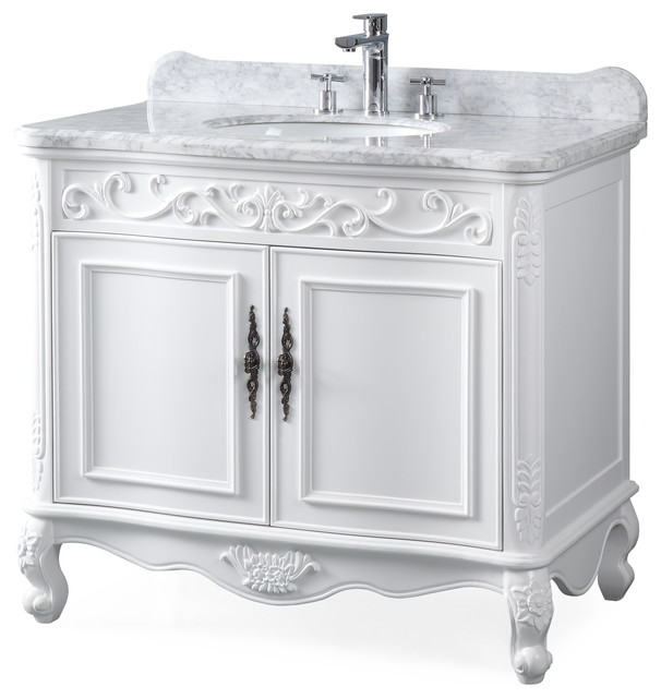 39 Carbone Antique Style White Bath
