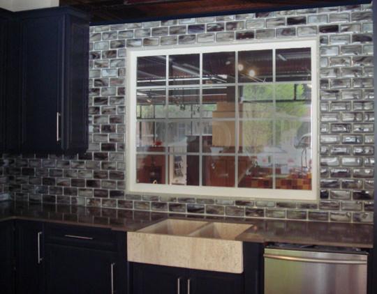 Stacked Tile Backsplash