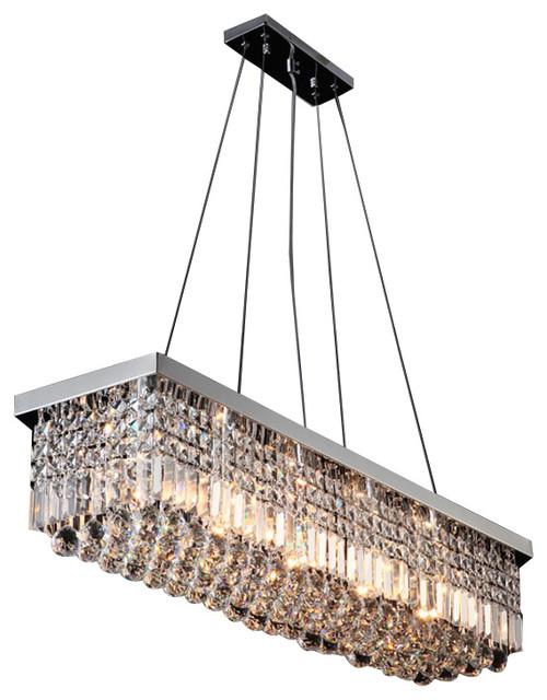 Modern Rectangular Chandeliers rectangular chandelier - creditrestore