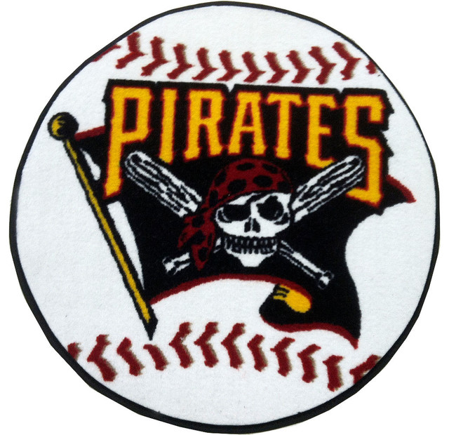 Mlb Pittsburgh Pirates Baseball Round Shaped Accent Rug