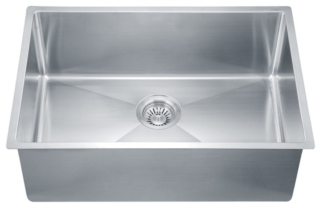 "Dawn Sru251610 27"" Single Bowl Undermount 18 Gauge Stainless Steel Kitchen Sink."