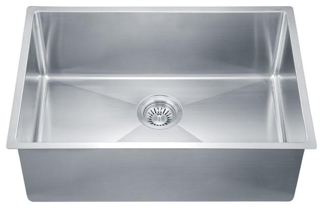 dawn sru251610 27   single bowl undermount 18 gauge stainless steel kitchen sink modern kitchen dawn sru251610 27   single bowl undermount 18 gauge stainless steel      rh   houzz com