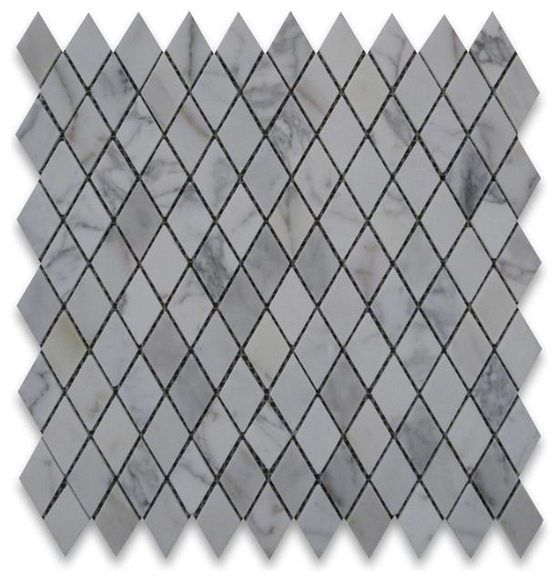 12 Quot X12 Quot Calacatta Gold Rhomboid Diamond Mosaic Polished