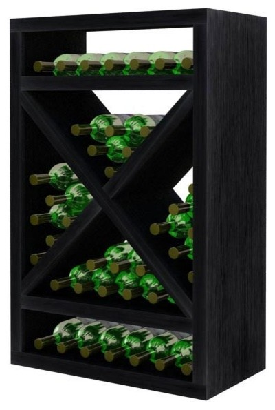 Jazmine Wine Rack, Midnight Black.