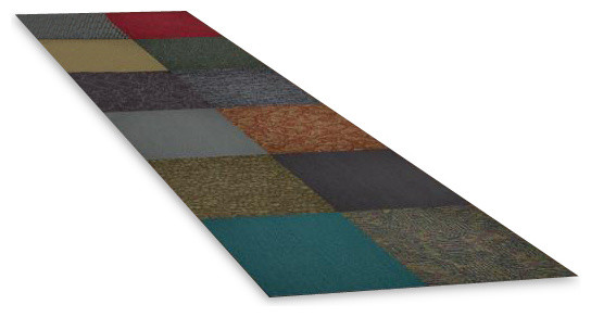 Assorted colors 24 x 24 inch carpet tiles 10 tile pack for 10 inch floor tiles
