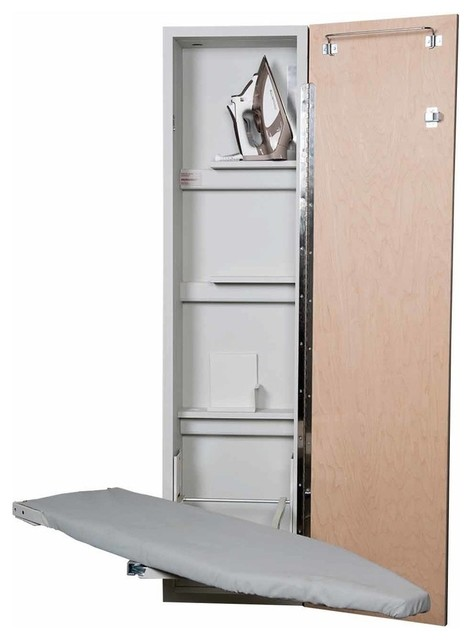 Premium Swivel Non-Electric Ironing Center, Mirror Door.